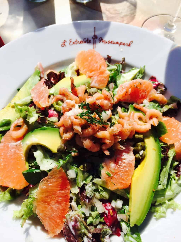 Voorjaarswijnen salade entrecote