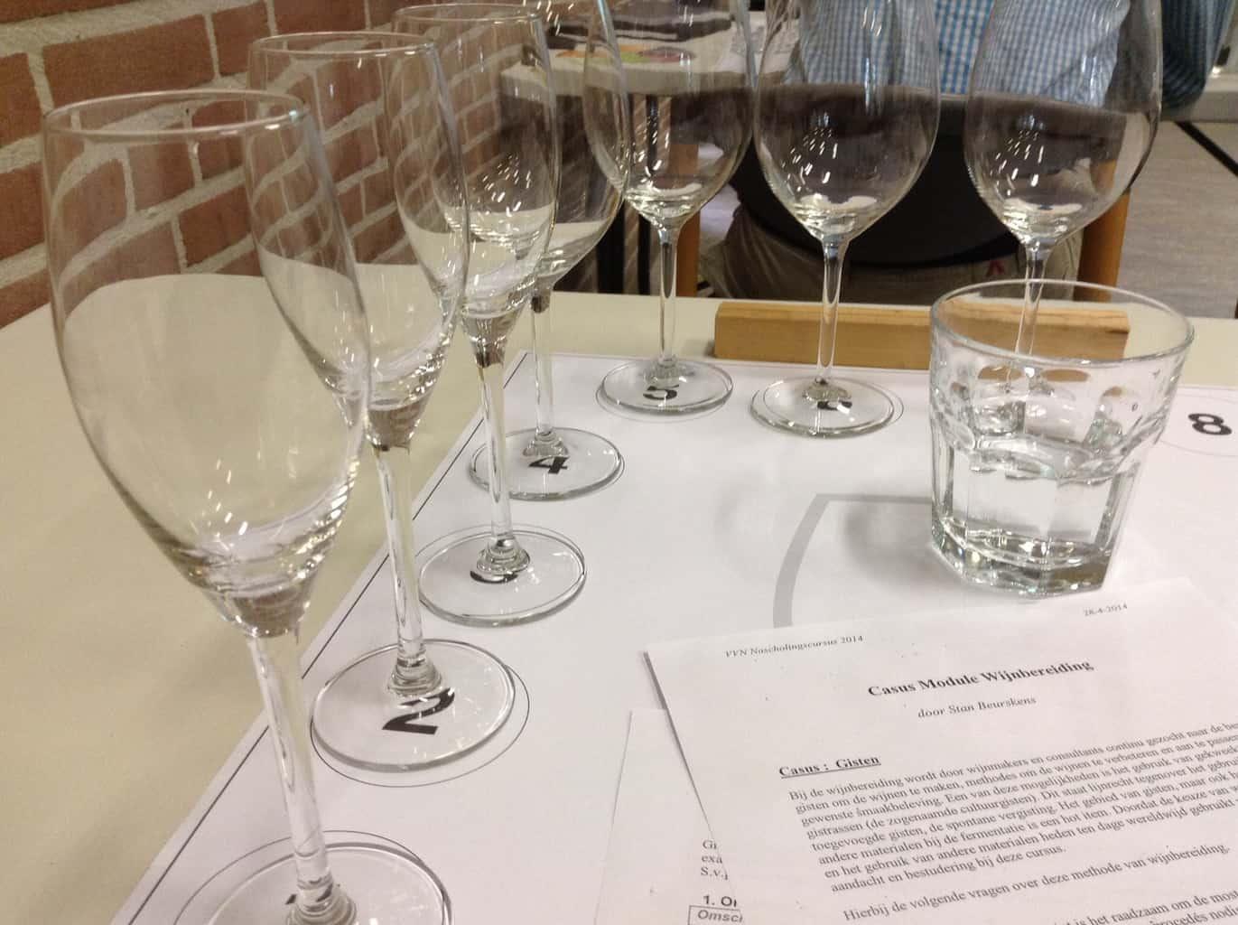 Glazen module wijnbereiding Stan Beurskens Wijnacademie
