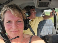 Bourgogne op de fiets, vliegtuigje