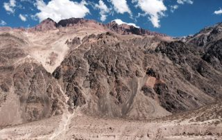 Via het Andes gebergte van Chili naar Mendoza