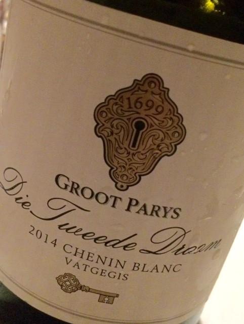 Groot Parys 'Die tweede droom' Chenin Blanc Vatgegis 2014 - Paarl - Zuid-Afrika