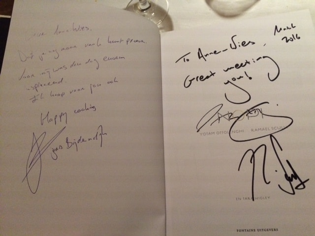 Signed by Yotam, Ramael & Joris!