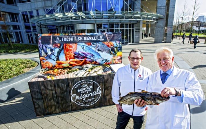 Schmidt Fresh Fish Market in Rotterdam Marriott hotel