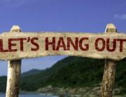 Weekend Hangouts (Lets hangout bord) shutterstock
