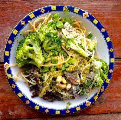 Pasta Broccoli Champigons Roomsaus