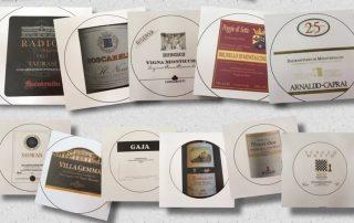 Fred Nijhuis etiketten Italaanse wijn liggend