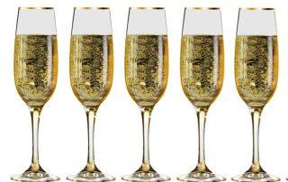 5 champagneglazen