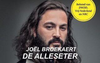 Joel Broekaert De alleseter Boek horizontaal met tekst