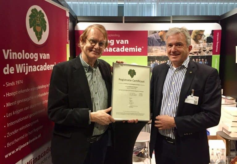 Hubrecht Duijker en Ron Andes Kwaliteitsregister Vinologen