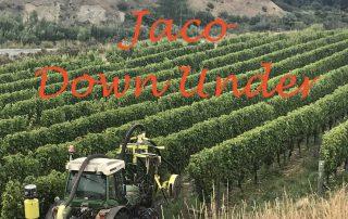 Jaco Down Under Uitgelicht Tractor in de wijngaarde Nieuw-Zeeland
