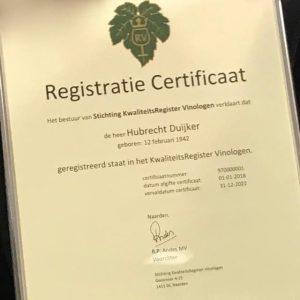 Register Certificaat Hubrecht Duijker