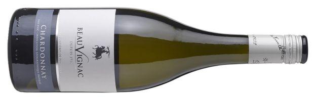 Beauvignac Chardonnay schroefdop Kreeftenwijn 2018 Kreeftenetiket