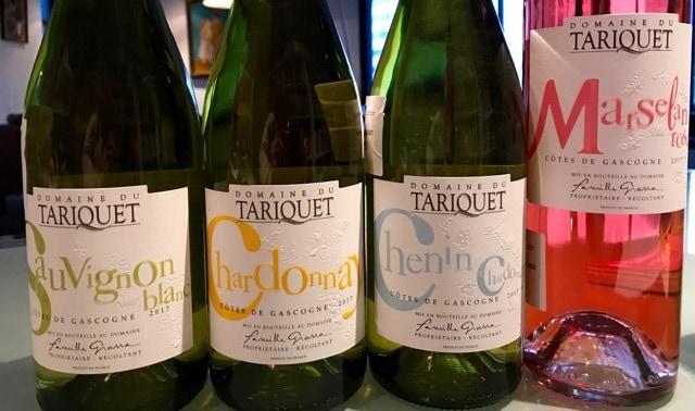 Domaine du Tariquet The Charmes vier wijnen op rij