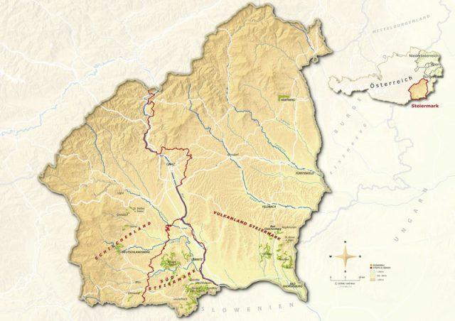 Weinbaukarte Steiermark