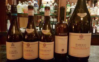 Een aantal van de flessen O Mundo Enrico Rivetto