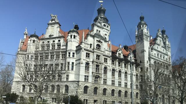 Leipzig oud gebouw