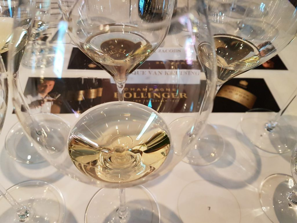 Champagne Bollinger R.D. 2004 glazen
