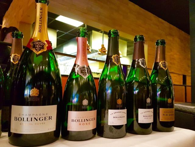 Champagne Bollinger R.D. 2004 lunch, de line up