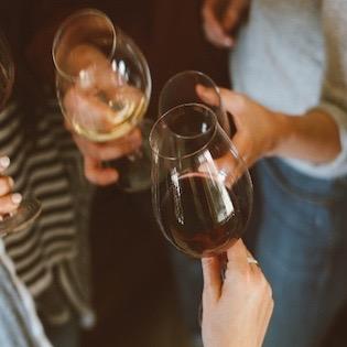 Reestlandhoeve Wijnfeest glazen proost